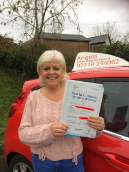 Angela is a fab driving instructor, she teaches you to drive a car not just pass your test, she is patient, very patient!! She managed to get me up to standard in a month, she gave me confidence in my ability, and taught me real driving skills. If you want to learn to drive and pass with the confidence that you can drive a car then I would recommend Angela every day of the week.